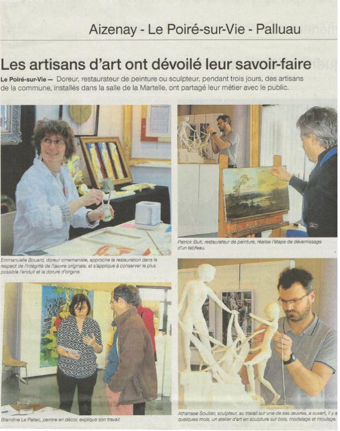 Les Artisans d 'art exposent au Poiré sur Vie lors des JEMA